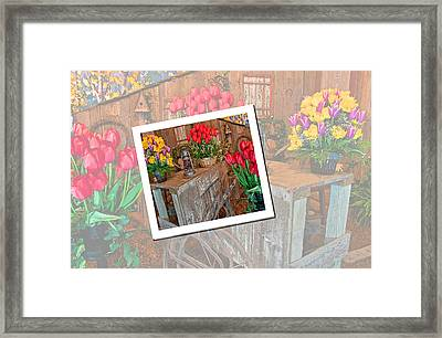 Garden Cart Out To Lunch Framed Print