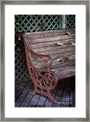 Garden Chair Framed Print by Carlos Caetano