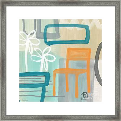 Garden Chair Framed Print by Linda Woods
