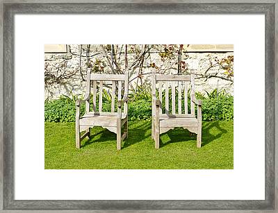 Garden Chairs Framed Print
