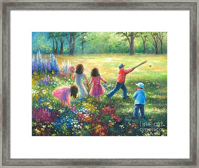 Garden Children Framed Print