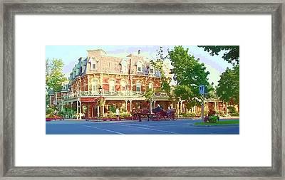 Garden City Framed Print by Barbara McDevitt
