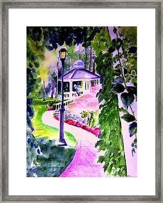 Garden City Gazebo Framed Print by Sandy Ryan