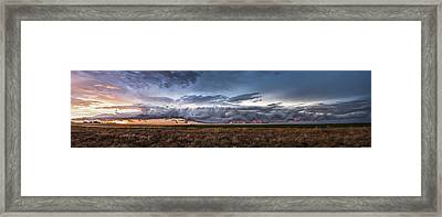 Garden City Pano Framed Print