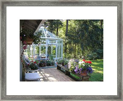 Garden Conservatory Framed Print by Pat Yager