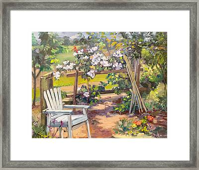 Garden Corner Framed Print by Dominique Amendola