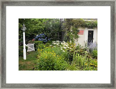 Garden Cottage Framed Print by Bill Wakeley