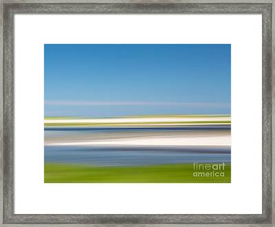 Garden Creek 1 Framed Print by Susan Cole Kelly Impressions