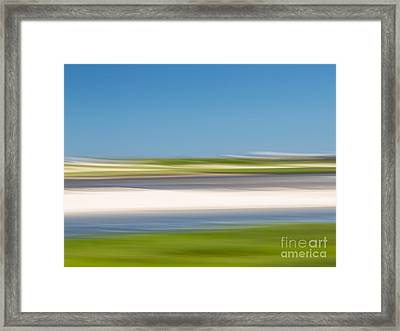 Garden Creek 3 Framed Print by Susan Cole Kelly Impressions