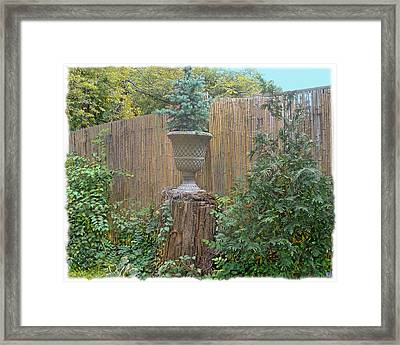 Garden Decor 2 Framed Print by Muriel Levison Goodwin