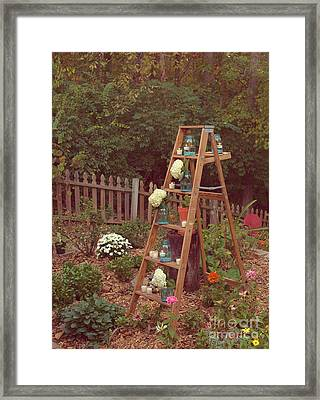 Garden Decorations Framed Print by Kay Pickens