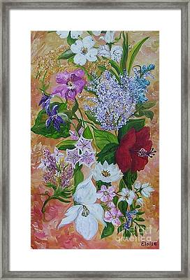Framed Print featuring the painting Garden Delight by Eloise Schneider