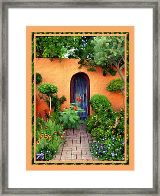 Garden Delights Mesilla Framed Print by Kurt Van Wagner