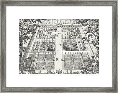 Garden Design From The Gardens Of Wilton Framed Print by Isaac de Caus