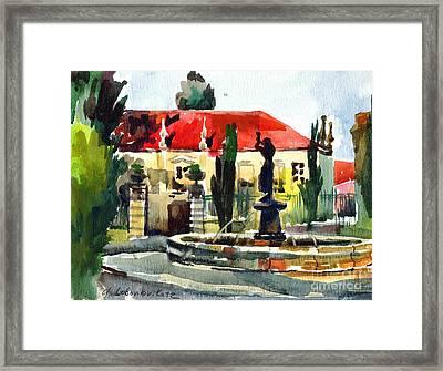 Garden Do Torel Fountain In Lisbon Framed Print by Anna Lobovikov-Katz