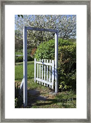 Garden Door Framed Print by Bernard Jaubert