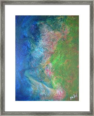 Framed Print featuring the painting Garden Dreams by John Fish