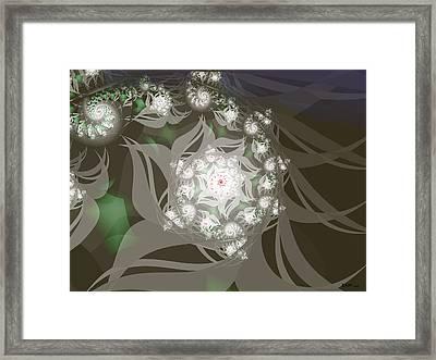 Framed Print featuring the digital art Garden Echos by Elizabeth McTaggart