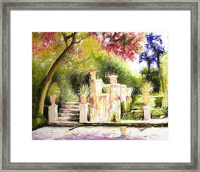 Garden Entrance Framed Print