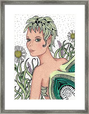 Garden Fairy - Check Out My Flowers Framed Print