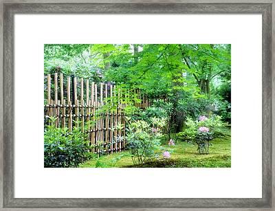 Garden Landscape Framed Print