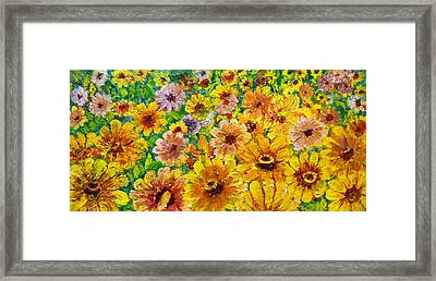 Garden Flowers Framed Print by Don Thibodeaux