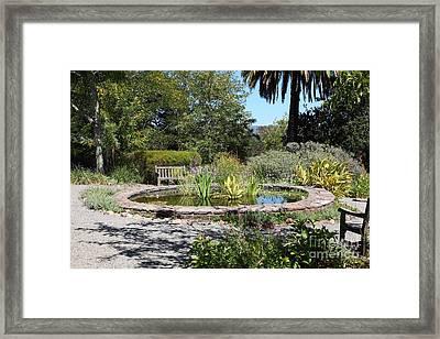 Garden Fountain At Historic Jack London Cottage In Glen Ellen California 5d24545 Framed Print