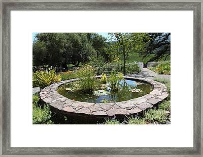 Garden Fountain At Historic Jack London Cottage In Glen Ellen California 5d24568 Framed Print