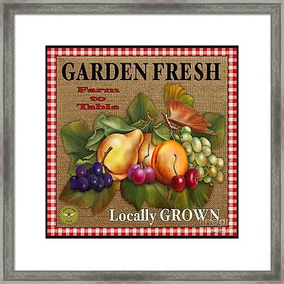 Garden Fresh-jp2386 Framed Print by Jean Plout