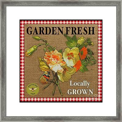 Garden Fresh-jp2387 Framed Print by Jean Plout