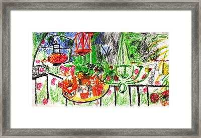 Garden Gala Framed Print by Anita Dale Livaditis