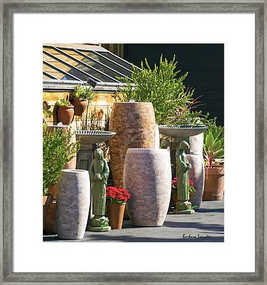 Garden Gallery Morro Bay  Framed Print by Barbara Snyder