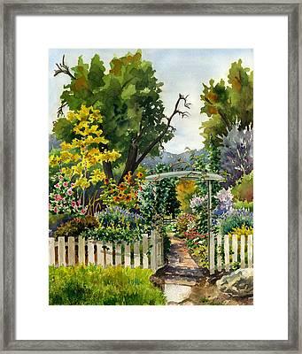 Garden Gate Framed Print by Anne Gifford