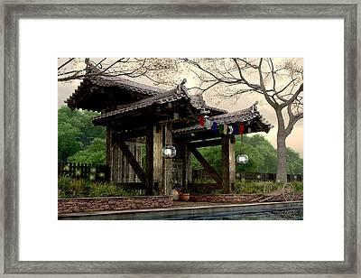 Garden Gate Framed Print by Cynthia Decker