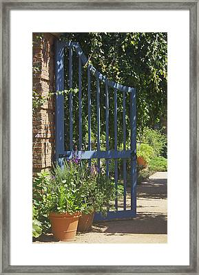 Garden Gate Framed Print by Kathleen Scanlan