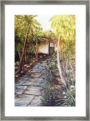 Garden Gate To Rosemary's Cottage Framed Print