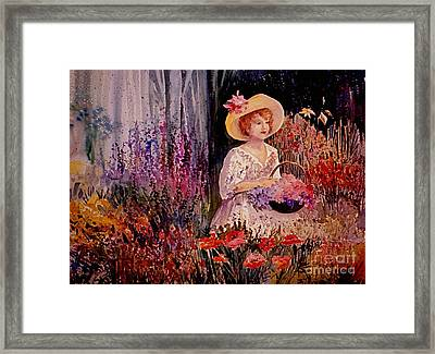 Garden Girl Framed Print by Marilyn Smith