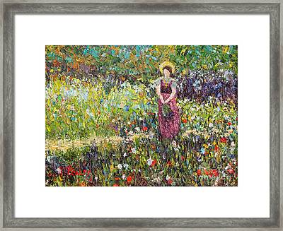 Garden Girl Framed Print