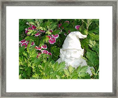 Framed Print featuring the photograph Garden Gnome by Charles Kraus