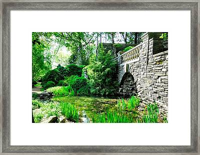 Garden Grotto Framed Print by Donald Groves