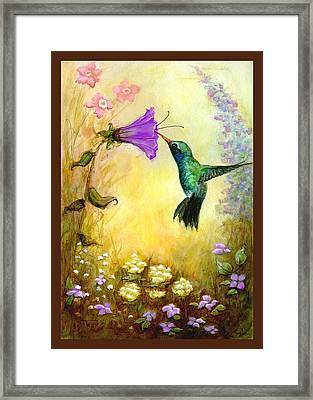 Garden Guest In Brown Framed Print by Terry Webb Harshman