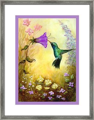 Garden Guest In Lavender Framed Print