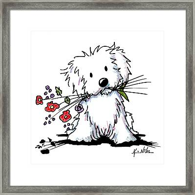 Garden Helper Framed Print by Kim Niles
