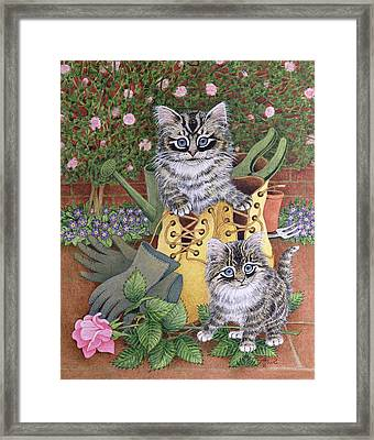 Garden Helpers  Framed Print by Pat Scott