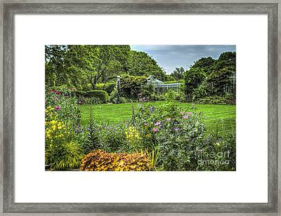 Framed Print featuring the photograph Garden In Bloom by Vicki DeVico