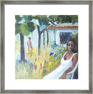 Garden In Lopinot 1 Framed Print by Mary Adam