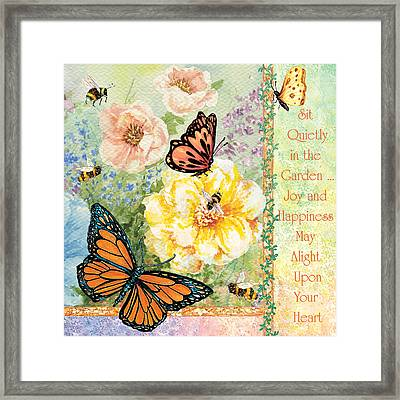 Garden Joy Framed Print