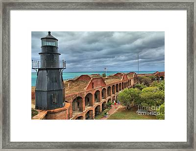 Garden Key Light Framed Print by Adam Jewell