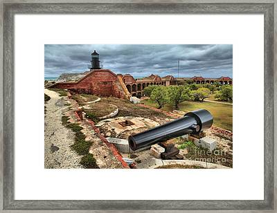 Garden Key Light Defense Framed Print by Adam Jewell