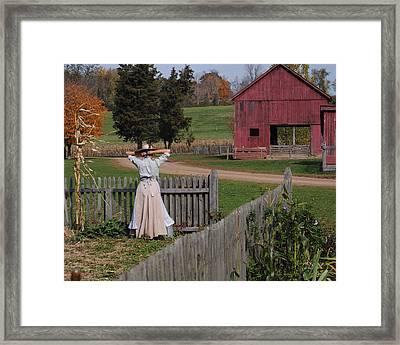 Garden Lady Framed Print